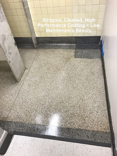 City Hall Terrazzo Bathroom Floor Clean and Coat